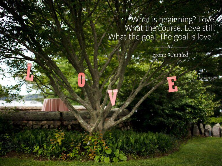 Goal is love wedding ceremony reading