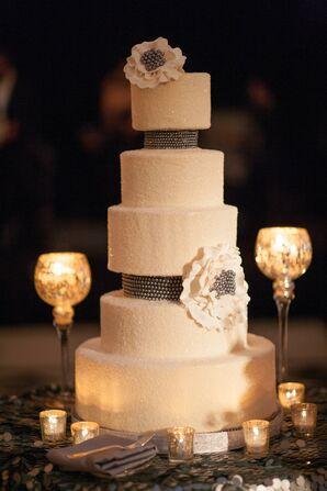 Sparkly Three-Foot Wedding Cake