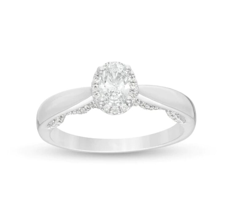 lace diamond engagement ring