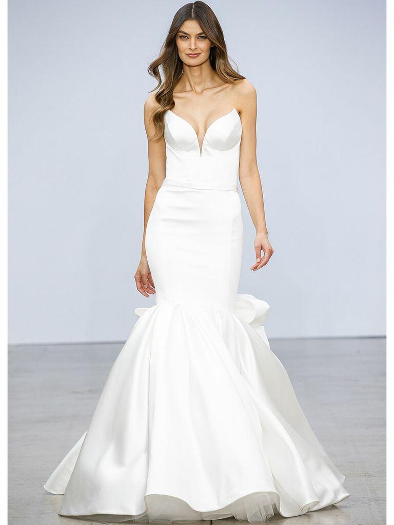 xPnina Tournai wedding dress strapless mermaid