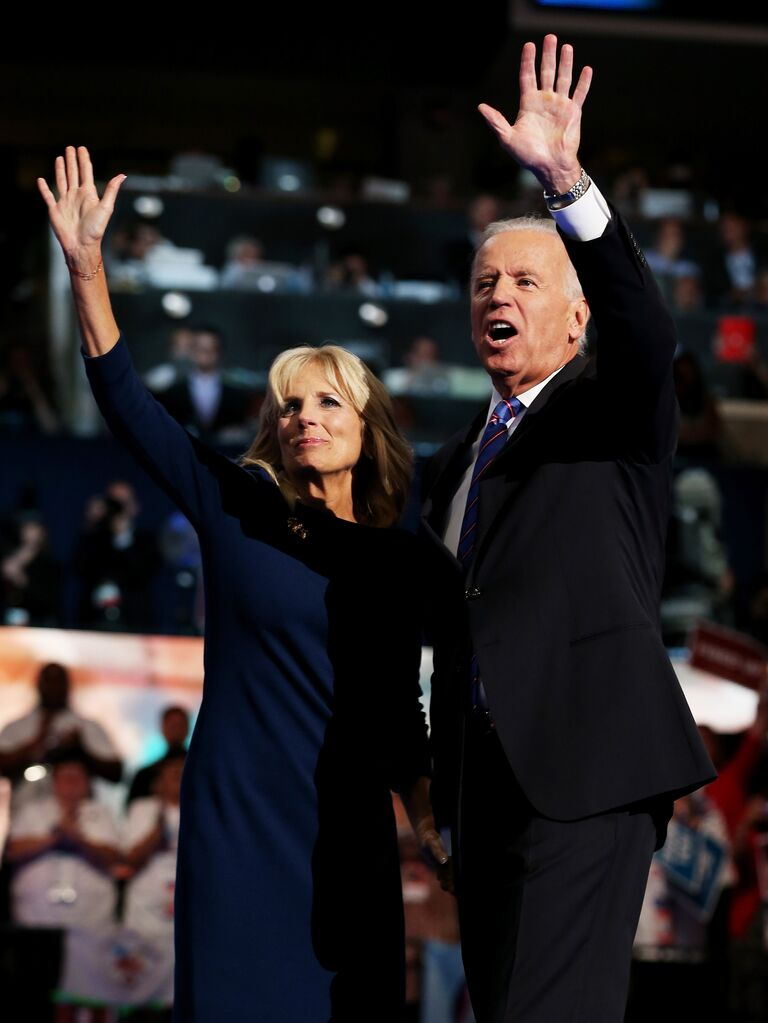 Joe and Jill Biden at the Democratic National Convention