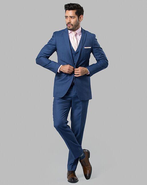 Menguin Deep Blue Suit Blue Tuxedo