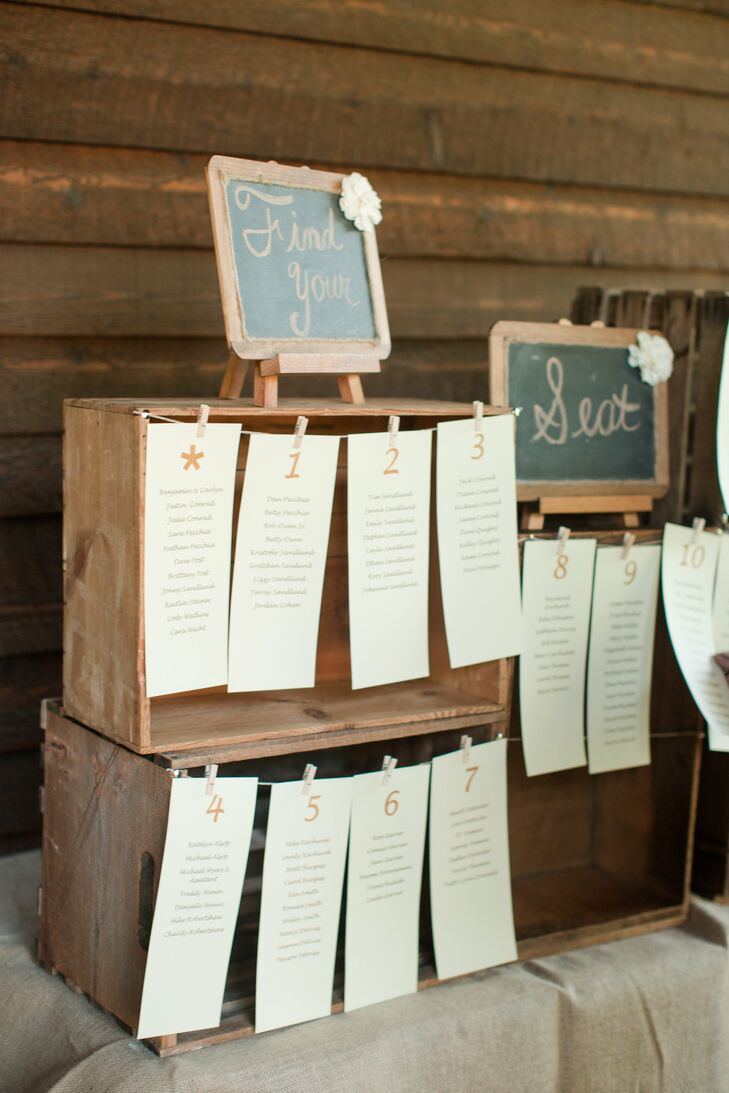 Seating Assignment Charts in Wooden Boxes