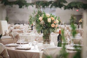 Large Garden Rose Bouquet Centerpieces