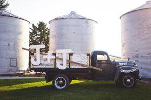Monogrammed Vintage Truck
