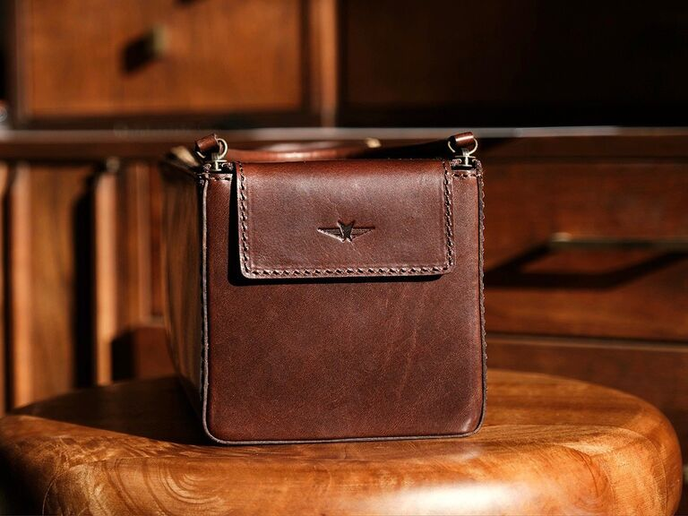 Luxurious leather toiletry bag son-in-law gift