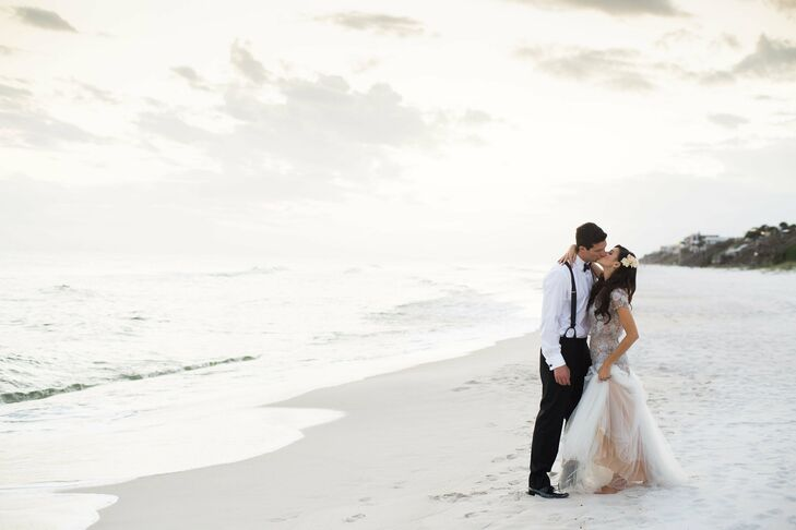 Bride and Groom in Alys Beach, Florida