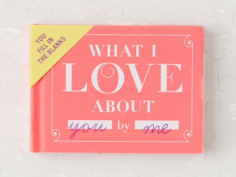 What I Love About You fill in the blanks book Valentine's gift
