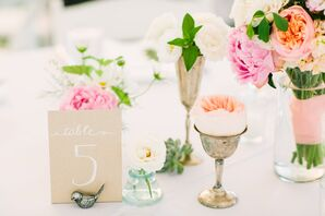 Hand-Lettered Kraft Paper Table Numbers