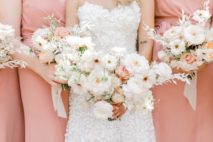 Romantic White and Pink Bouquets