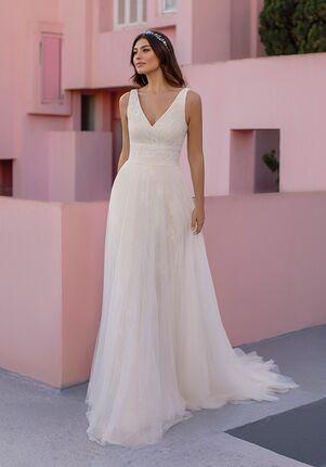 WHITE ONE ESSENTIALS OCRET Ball Gown Wedding Dress
