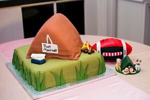 Whimsical Camping-Inspired Groom's Cake