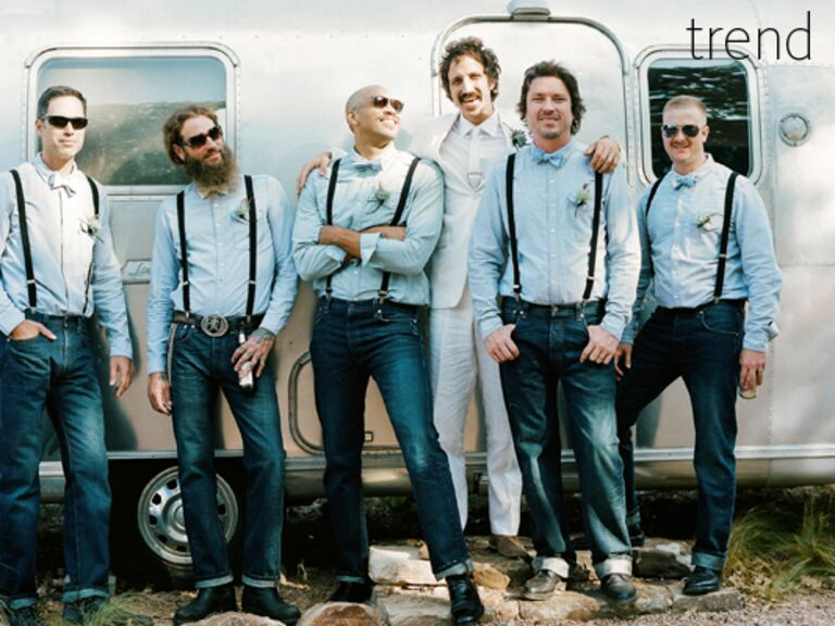 Casual Denim Groomsmen Look | Q Weddings | Blog.theknot.com