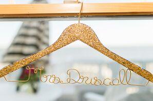 Gold Glitter Bridal Hanger