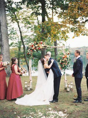 First Kiss at Tuxedo Park in Tuxedo, New York