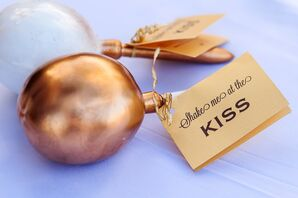 Gold Maraca for Guests to Wave at First Kiss
