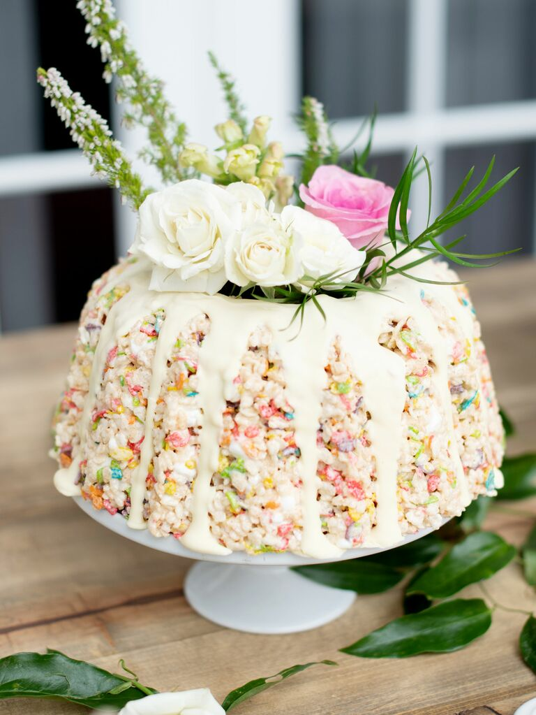 Cereal Bridal Shower Bundt Cake