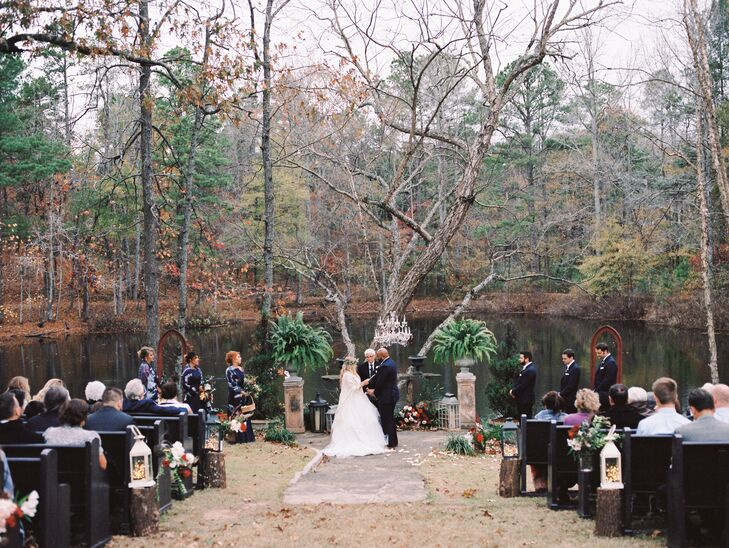 Romantic Autumnal Waterfront Ceremony