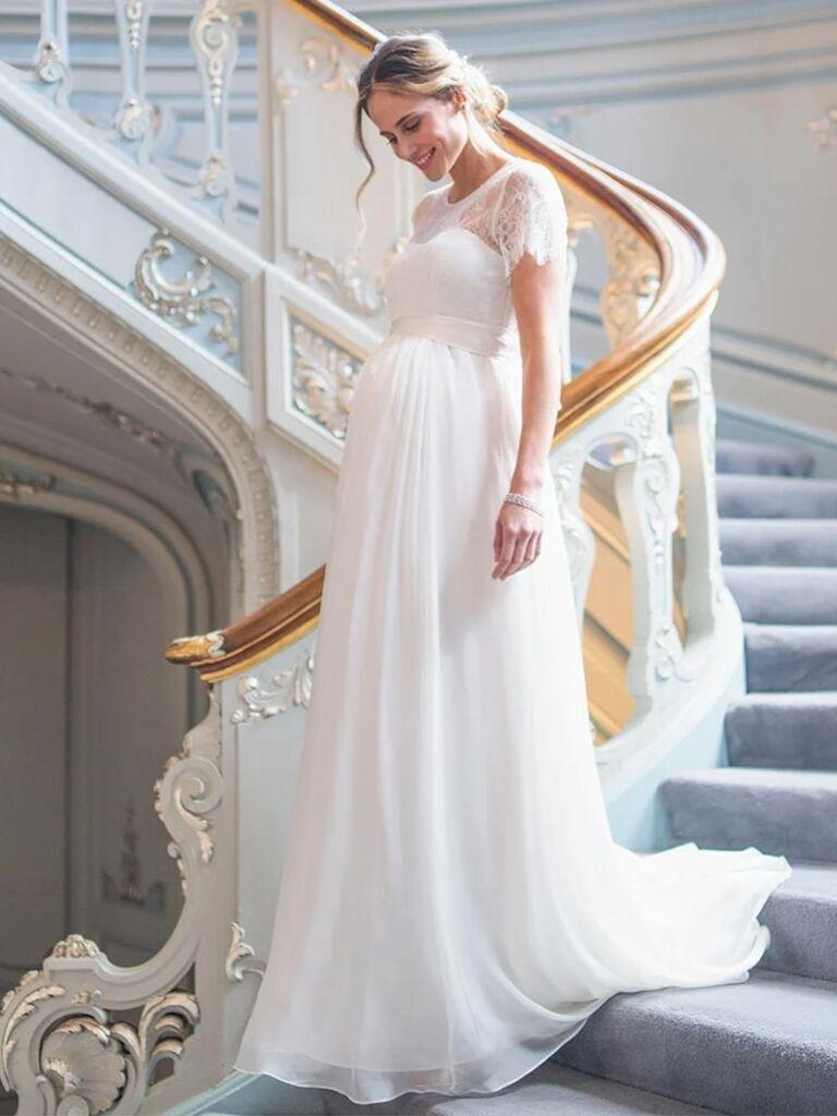 17 Maternity Wedding Dresses Pregnant Brides Will Love