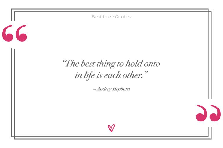 Audrey Hepburn best love quotes