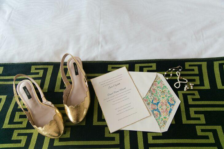 Zara Gold Slingback Heels