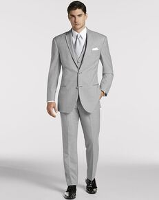 Men's Wearhouse Joseph Abboud® Light Gray Satin Edged Notch Lapel Gray Tuxedo