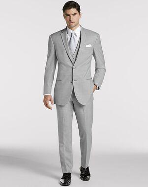 Men's Wearhouse Joseph Abboud® Light Gray Satin Edged Notch Lapel Gray Tuxedo