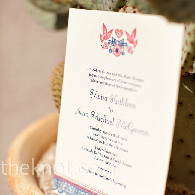 Spanish Style Wedding Invitation