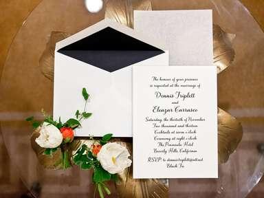 Formal script invitation