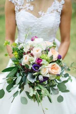 Bouquet with Greenery and Peonies