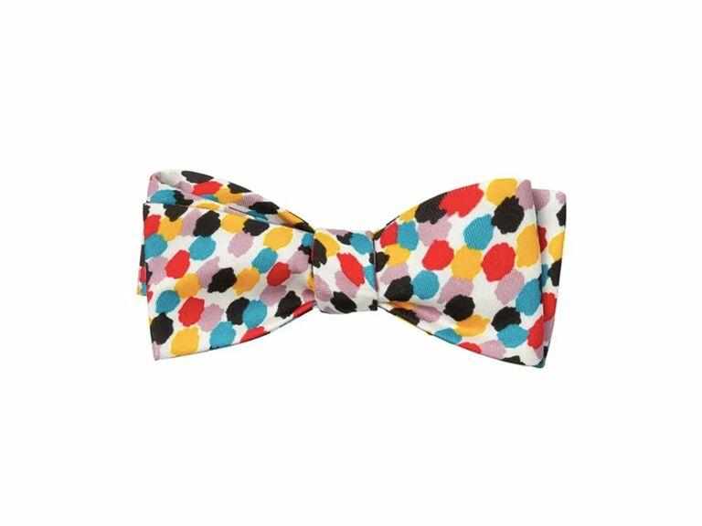 Colorful multi-print bow tie