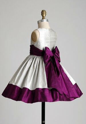 Elizabeth St. John Children Vanessa Purple Flower Girl Dress