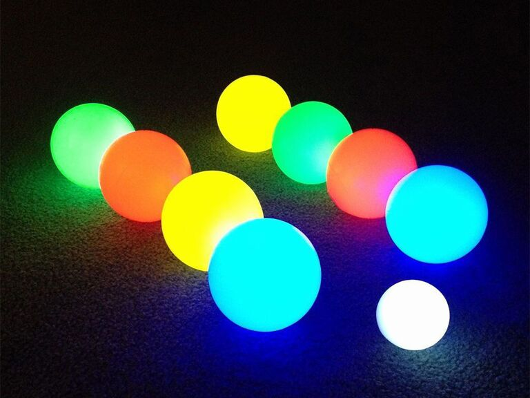 Light-up bocce ball wedding lawn game