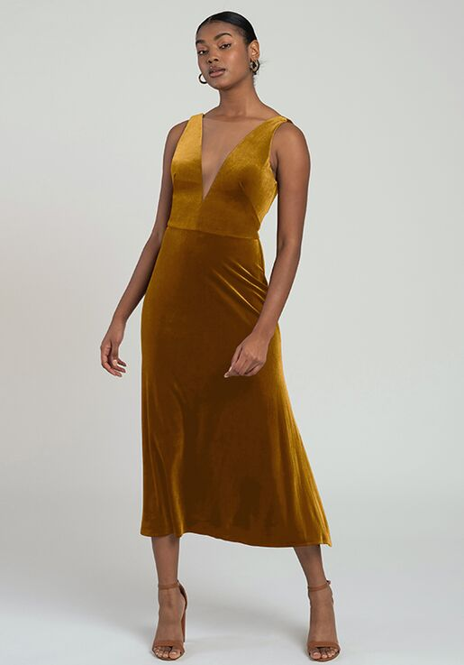 Jenny Yoo Collection (Maids) Lori V-Neck Bridesmaid Dress