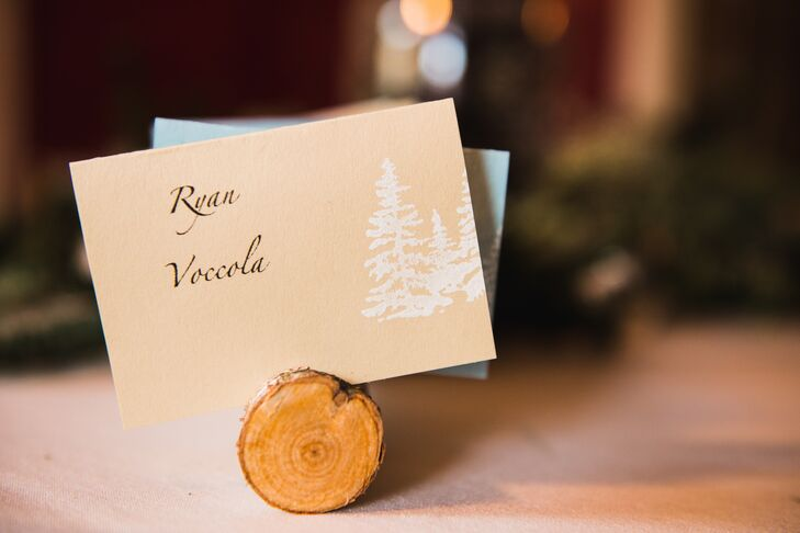 Rustic Mountain-Inspired Escort Cards