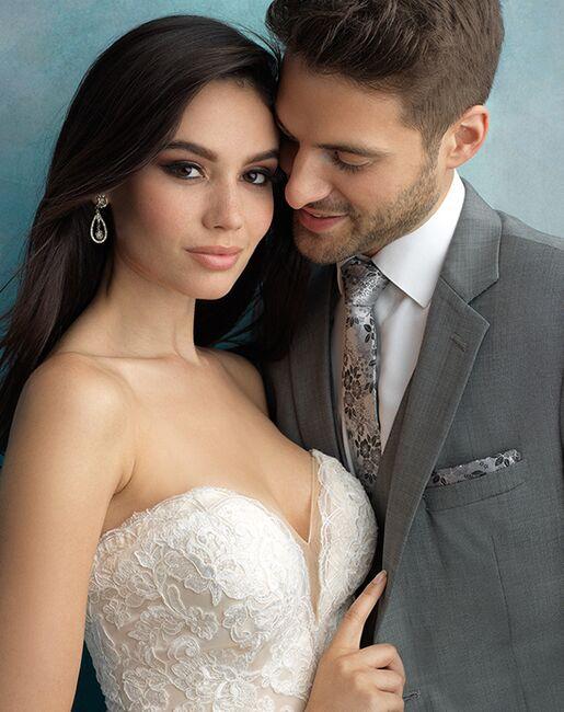 Allure Men Shale Suit Gray Tuxedo