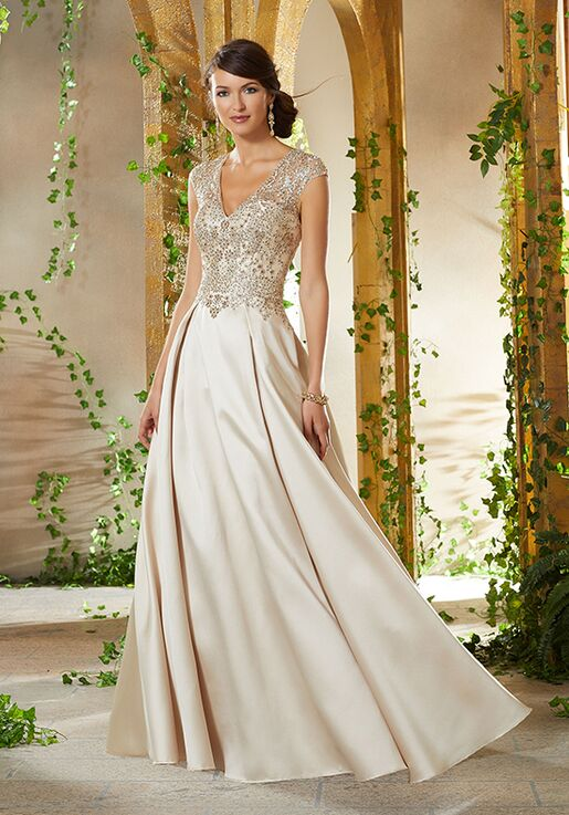 MGNY 71904 Champagne Mother Of The Bride Dress