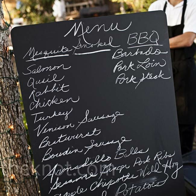Jessica is a vegetarian, so the menu included her favorite pasta while Charlie's uncles prepared exotic meats -- like quail and rabbit -- on two barbecue pits.