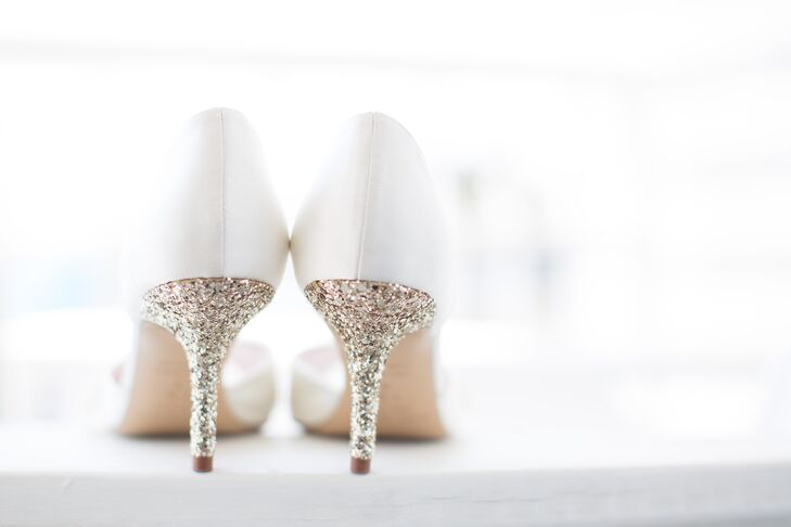 Glitter Heel Bridal Shoes