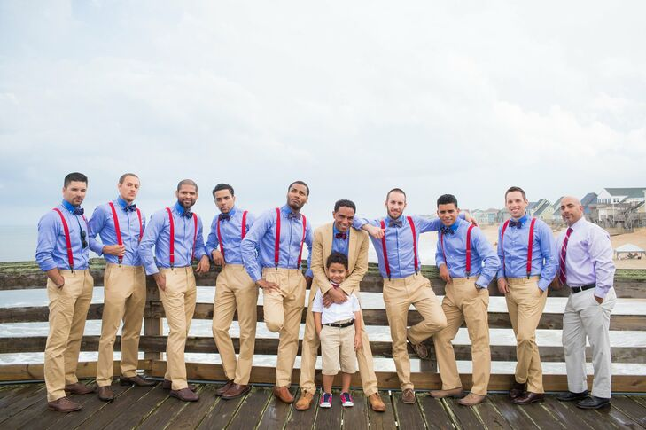 Suspendered Groomsmen