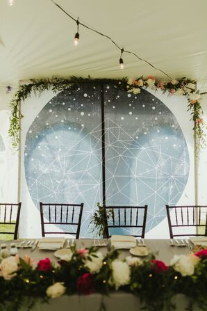 Celestial Head Table Backdrop