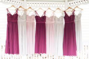 Flowing Floor-Length Bridesmaid Dresses