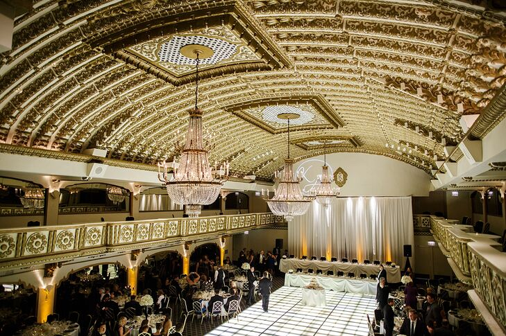Kristen and Alex fell in love with the luxe Crystal Ballroom at the Millennium Knickerbocker Hotel Chicago in Chicago, Illinois.