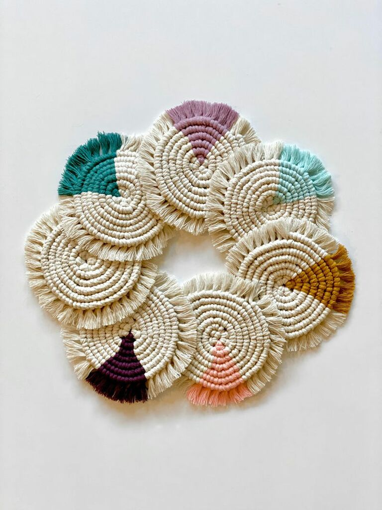 woven fabric coasters