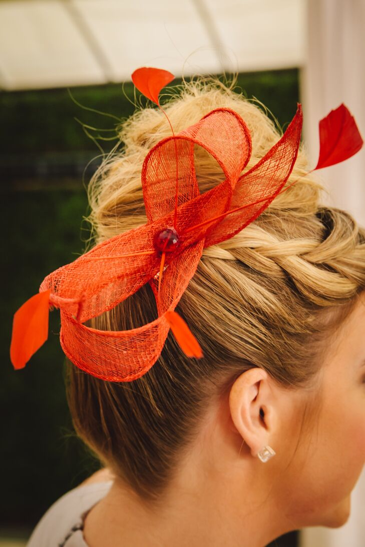DIY Red Bow Fascinator