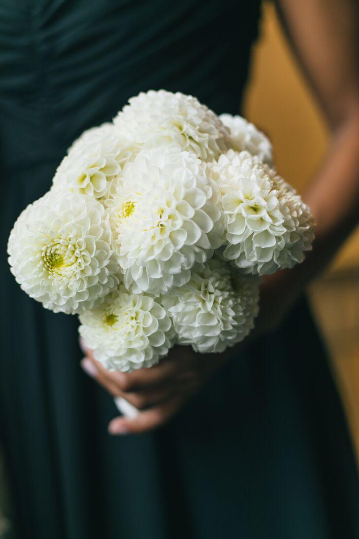 Simple White Dahlia Bouquet