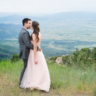 Real Pink Wedding Dresses