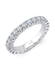 Uneek Fine Jewelry UWB033 White Gold Wedding Ring