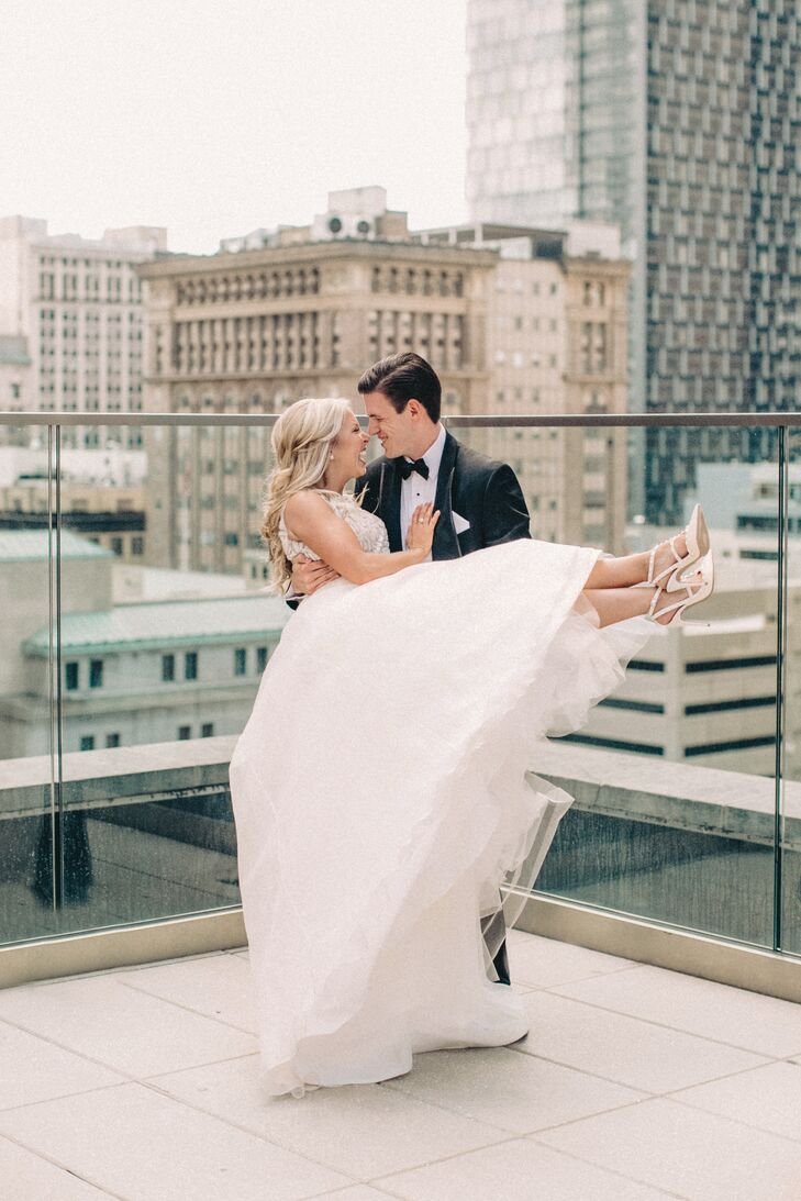 Couple on the Rooftop of the Kimpton Hotel Monaco in Pittsburgh, Pennsylvania