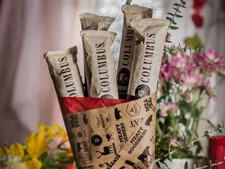 Salami bouquet funny Valentine's Day gift for him